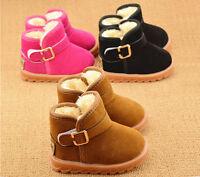 Newborn Baby Infant Toddler Boy Girl Snow Boots Crib Shoes Prewalker Size 5-11