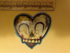 Skeleton heart face sticker