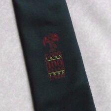 ST BEDE'S SCHOOL TIE VINTAGE RETRO 100 YEARS 1895-1995 GREEN 1990s REDHILL