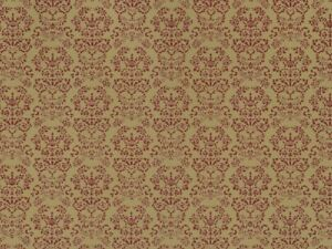 1:12 scale Dolls House Wall Paper Renaissance Red on Gold PP141