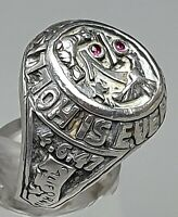 Massiver Herren Ring Siegelring um 1930/40 935 Silber HDR punziert RG 58/18,4 mm