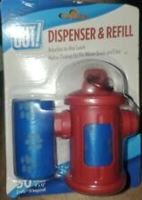 Dog Poop Waste Bag Dispenser and 30 Refill Bags RED HYDRANT