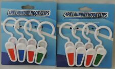 8 Laundry Hooks Sturdy Hangers Dry Plastic Clips Hanging Similar to ClothesPin