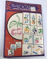 Vintage Vogart Transfer Pattern Fruits & Vegetables To Brighten Your Kitchen