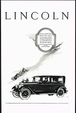 1926 Original Vintage Lincoln Limousine Sedan Motor Car Automobile Art Print Ad