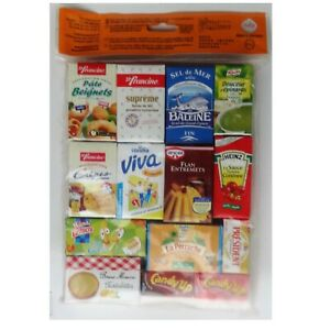 Playfood Mini Grocery Cartons - Pretend play kitchen shop or Learn French New