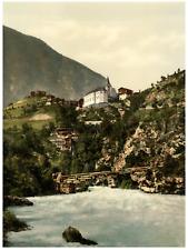 Valais. Alpes valaisannes. Stalden. PZ vintage photochromie,  photochromie, vi