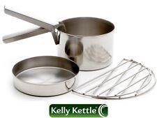 Cook Set - Small - for 'Trekker' Kelly Kettle® (Stainless Steel) 0.45 ltr Pot