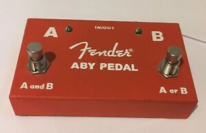 Fender ABY Guitar Instrument Amplifier Switching pedal