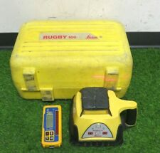Leica Rugby 100 Self Leveling Rotating Laser Withhl450 Receiver