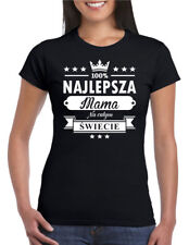 NAJLEPSZA MAMA NA SWIECIE Damska Koszulka Polska Super Koszulki Polski