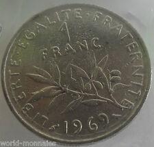 1 franc semeuse 1969 : TB : pièce de monnaie française
