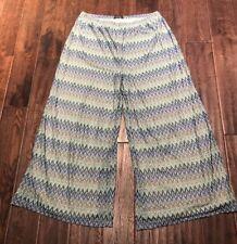 Womens Chevron Palazxo Pant Size 2X,Blue, NEW, Lined, Slinky Brand
