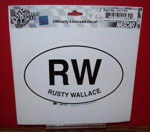 RUSTY WALLACE RW WINNER CIRCLE 5X6 DECAL STICKER SHEET