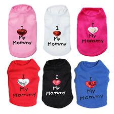 Dog Puppy Shirt I Love Mommy Pet Clothes Cotton Pajamas for Pomeranian Chihuahua