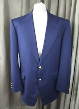 Christian Dior 100% Pure Virgin Wool Navy Blue Blazer Jacket Made in Italy 40R