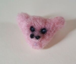 Needle felt 'Pig face' brooch Made With Love by MR