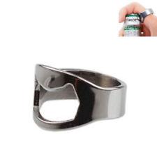 1pc Finger Thumb Ring Bottle Opener Bar Beer Tool Silver Stainless Steel