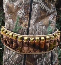 25 Round Shotgun Shell Ammo Belt Nylon Sling Bandolier Holder For 12 20 24 GA