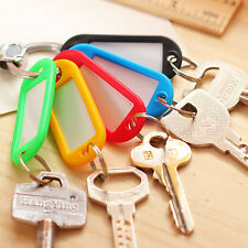 30Pcs/Pack Plastic Key Rings Fobs ID Tags Name Cards Labels Luggage-New