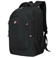 "Waterproof 17"" Laptop Backpack USB Anti-Theft Travel School bag Large Capacity"