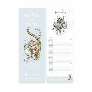 Wrendale Designs Yours and Mine Couples 2022 Slim Calendar - Gifts for Them