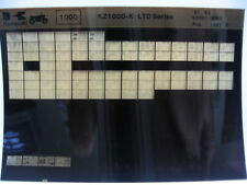 Kawasaki KZ1000 LTD 1981- 1982 Part Microfiche NOS k445