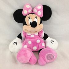"""Classic Pink and White Polka Dot Disney Minnie Mouse Plush Toy Doll 15"""""""
