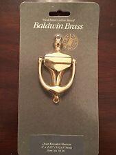 """Baldwin Hardware 0130 Solid Brass Door Knocker (4"""" x 2.25"""")"""