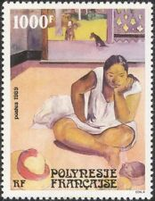 French Polynesia 1989 Paul Gauguin/Art/Paintings/Artists/Dog/Horse 1v (n37479)