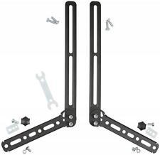 Av:link 129.596 Adjustable Angle Universal L Shaped Soundbar Brackets - Black