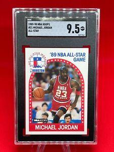 1989-90 Fleer, Michael Jordan #21 🐐 MINT+ 9.5+! 🔥 Pack fresh, All Star!