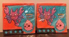 Vintage Pokemon Napkins Birthday Party Supplies Glitar 90s Nintendo Lot of 2