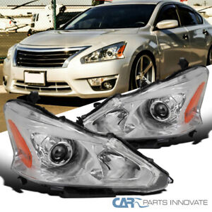 For 13-15 Nissan Altima Sedan Clear Projector Headlights Head Lamps Left+Right