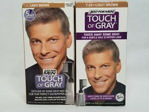 Just For MEN Touch of Gray Hair Treatment Color - Light Brown T-25 2 Boxes HP1