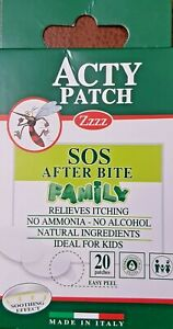 ACTY PATCH SOS AFTER BITE  FAMILY RELIEVES ITCHING 20 PATCHES (FREE DELIVERY )