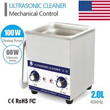 2L Industry Digital Ultrasonic Cleaner Heater Timer Stainless Jewel Clean Tank X