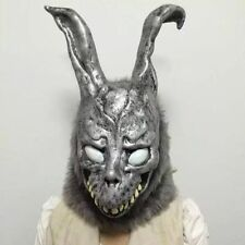 Donnie Darko FRANK the Bunny Rabbit MASK Latex Overhead with Fur Adult Costume