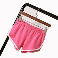 Summer Lady Elastic Waist Sports Shorts Female Home Yoga Beach Pants Slim Short