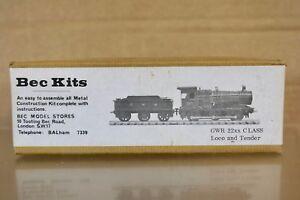 BEC KITS TT GAUGE KIT BUILT GW GWR 0-6-0 CLASS 22XX LOCOMOTIVE & TENDER KIT