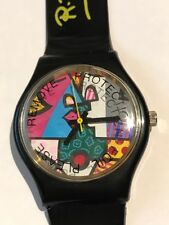 "ROMERO BRITTO VINTAGE WRIST WATCH ""KISS""  HAND SIGNED (1996) ** RARE ** NEW **"