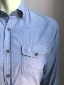 Earnest Sewn Shirt, Lightweight Chambray, Medium, Excellent Condition