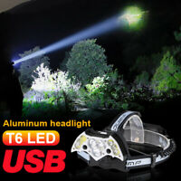 200000LM 11LED Headlamp Zoomable USB Rechargeable 18650 Headlight Torch Lamp