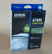 [1075*] EPSON 676XL (TWIN PACK) 2x Black Inks  ( RRP>$109)