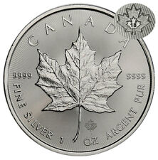 2018 Canada 1 oz Silver Maple Leaf $5 Coin GEM BU PRESALE SKU49792