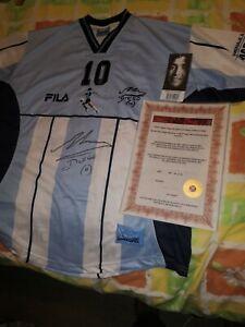 Signed Diego Maradona Testimional shirt Look READ!!