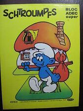 LIVRE JEU DECOUPAGES SCHTROUMPFS SMURF PITUFOS PEYO 1981