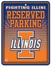 Illinois Fighting Illini METAL Wall Parking Sign University of