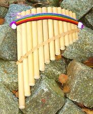 Panflöte Bambus 30 cm, 13 Röhren, Peru Indianer Inka Musik, Indio Kostüm Flöte