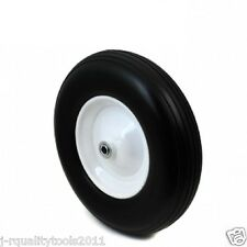 "16"" REPLACEMENT WHEELBARROW FLAT FREE TUBELESS TIRE WHEEL AND RIM"